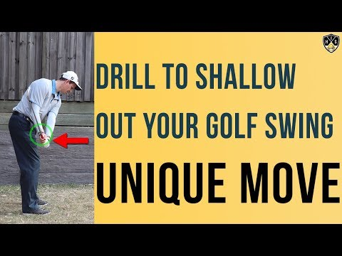 Drill To Shallow Out Your Golf Swing ➜ Unique Move