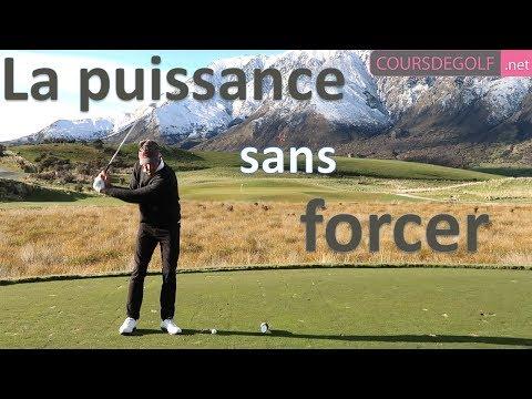 La puissance au golf sans forcer – cours de golf par Renaud Poupard
