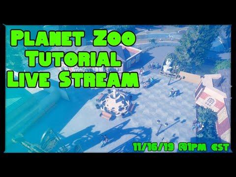 Planet Zoo Tutorial Live Stream   Planet Zoo