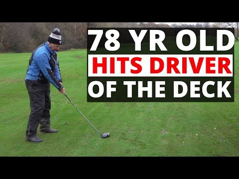 OLD GOLFER HITS DRIVER OF THE DECK !