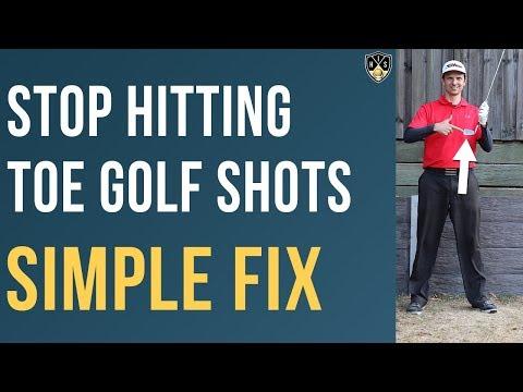 Stop Hitting Toe Golf Shots ➜ Hit Dead Centre Instead