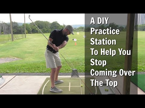 GOLF: A DIY Practice Station To Help You Stop Coming Over The Top