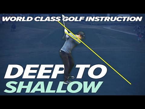 How to shallow out your Golf Swing – A easier way to play golf  – DEEP to SHALLOW -Craig Hanson Golf