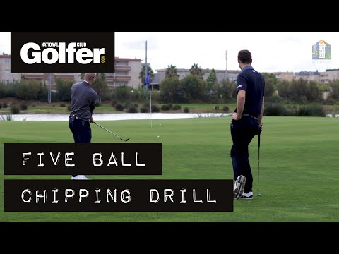 Short game tips: Try this five-ball chipping drill to improve your options around the green