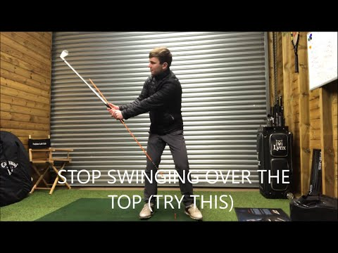 GOLF- SWINGING OVER THE TOP. (TRY THIS SIMPLE MOVE)