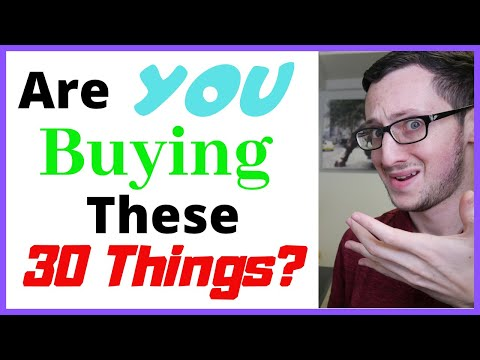 😡30 DUMB PURCHASES – Things to AVOID Buying! (Frugal Living Tips to SAVE MONEY)