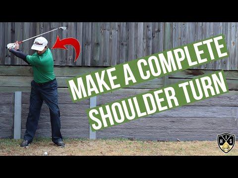 Full Shoulder Turn Golf Swing ➜ Wind Up For Power