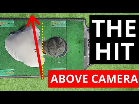 HOW TO HIT THE GOLF BALL FROM ABOVE CAMERA