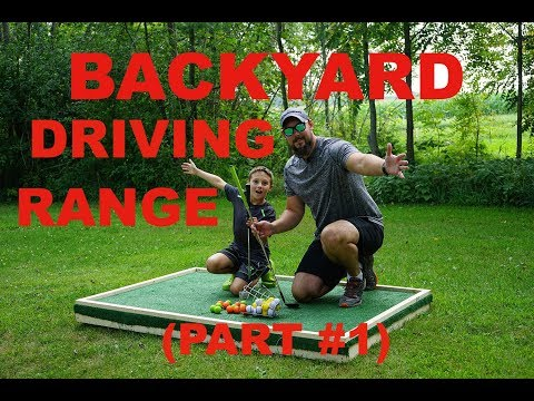 DIY Backyard Driving Range
