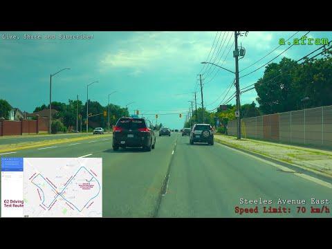 [4K] Brampton G2 (G1 Exit) Driving Road Test Route Ontario Canada