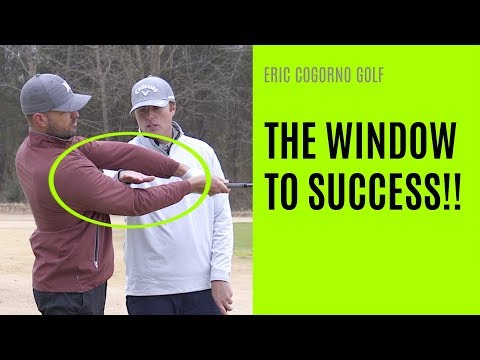 """GOLF: Right Arm Move To Release The Club On Plane – The """"Window"""" To Success"""