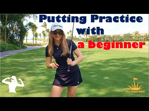 Putting drills-Putting Practise with a Beginner