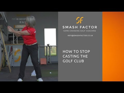 How to STOP CASTING the golf club on your down swing