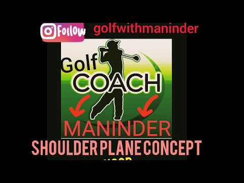 Golf swing shoulder plane concept using Hula hoop to hit draw shots like Pga pros