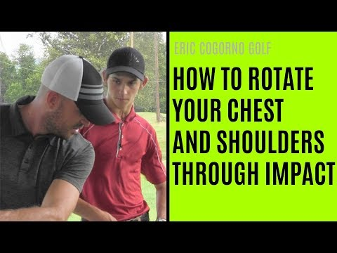 GOLF: How To Rotate Your Chest And Shoulders Through Impact