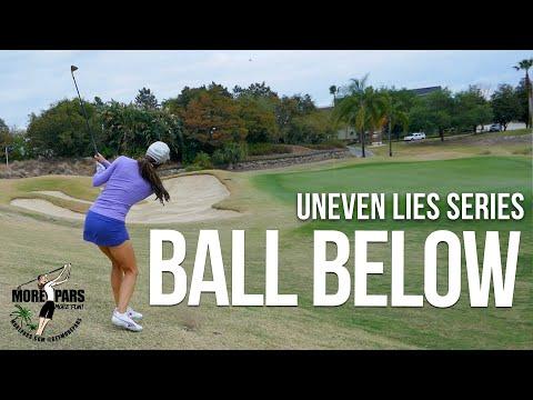 Uneven Lies Series: Ball Well Below Feet Around the Green