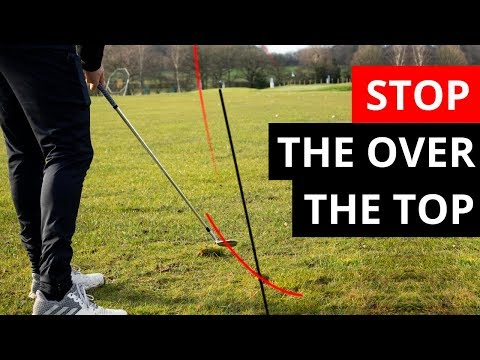WATCH THIS GOLFER STOP SWINGING OVER THE TOP USING THREE STRANGE DRILLS