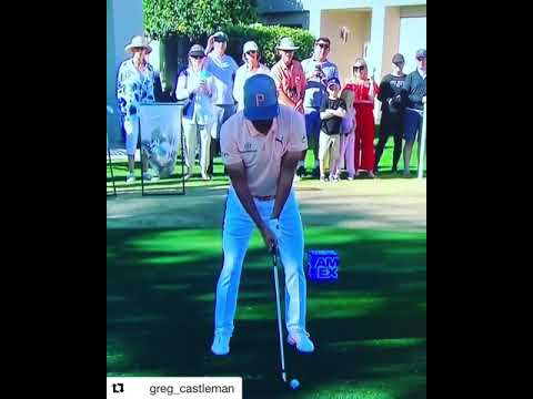 Rickie Fowler iron's tee short golf swing #Subscribe & #HitTheBell