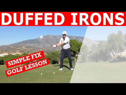 HOW TO STOP HITTING BEHIND THE GOLF BALL – Simple Golf Tip