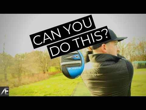 How to hit a hybrid golf club (swing Drill)