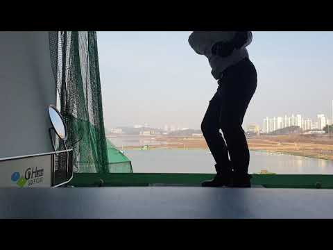 [SITB] 골프 드라이버 좌타 연습 첫날 Golf driver left-handed practice first day