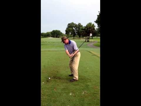 James Kyle PGA demonstrating left hand set up and slow motion swing path for left handed client!!!