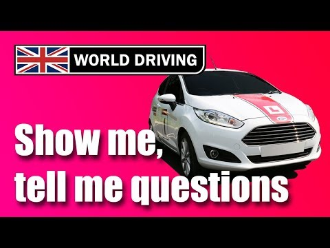 Show Me, Tell Me Questions 2020: UK driving test questions