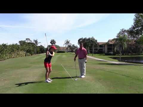 Teaching Pam To Play Golf – Swinging on Plane