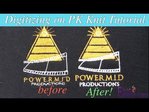 How to Digitize Embroidery Designs for Golf Shirts & Sports Wear (Pique Knit)