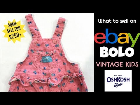 WHY Vintage OshKosh Kids Overalls are Selling for $250+ on eBay – Which Ones to Look for!