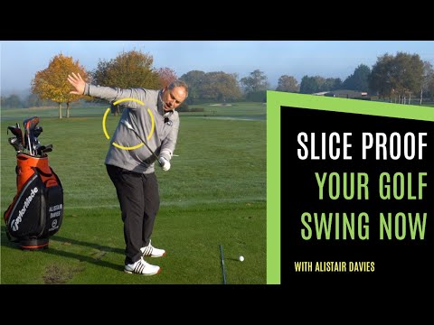 HOW TO HIT STRAIGHT GOLF SHOTS: SIMPLE GOLF DRILLS TO SLICE PROOF YOUR GOLF SWING