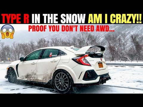 Civic Type R Snow & Winter Review   Tips for Driving FWD Sports Car Snow   Proof you Don't Need AWD