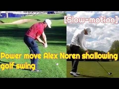 (Slow-Motion)Alex Noren Power Move Shallow Shaft Golf Swing Sequnce(알렉스 노렌 파워풀 GG골프스윙시퀀스)