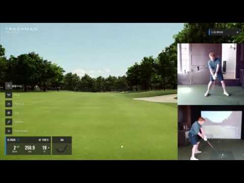 Trackman Golf Simulator Reed crushes Muirfield Village 54 (-18)!!!