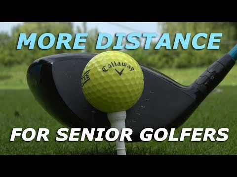 More DRIVER DISTANCE for senior golfers – Easy golf tip