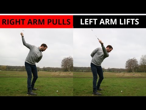 THE ROLE OF THE RIGHT AND LEFT ARM IN THE GOLFSWING