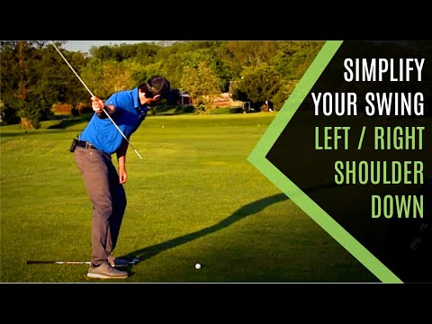 SHOULDER TURN IN THE GOLF SWING SIMPLIFIED: LEFT RIGHT DOWN
