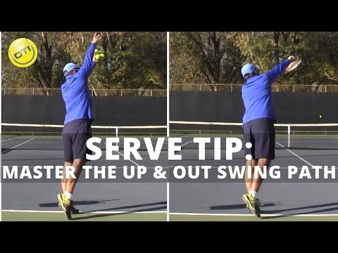 Serve Tip: Develop More Consistency By Mastering The Up And Out Swing Path With Simple Progressions