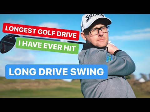 LONGEST GOLF DRIVE I HAVE EVER HIT MY NEW GOLF SWING