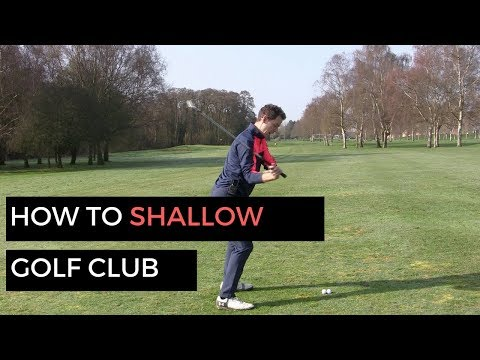 HOW TO SHALLOW OUT GOLF CLUB AND HIT IT LONGER