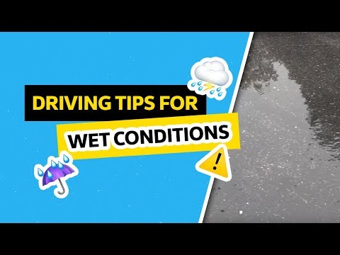 Driving SAFELY in Wet Conditions | VW Tips