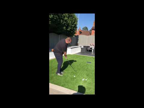 Chipping on to a slab – Lockdown golf drills