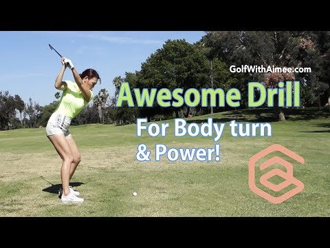 Awesome Drill for Power Golf Swing   Golf with Aimee