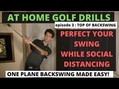 ONE PLANE BACKSWING MADE EASY   Socially Distanced Golf Academy   Ep 3   Tom Saguto, PGA  SagutoGolf