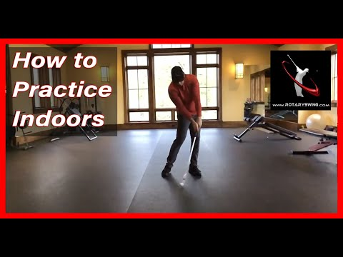 How to Practice Your Golf Swing Indoors – Slow Motion Face On