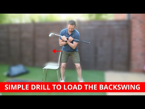 SIMPLE DRILL TO HELP LOAD THE BACKSWING