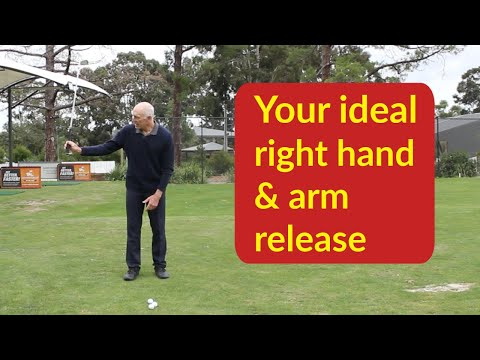 Release the golf club correctly | right hand and arm
