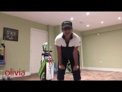 At Home with Olivia: Golf Lessons with Far Samji Episode 1 Putting