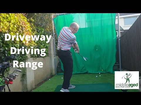 My Driveway Driving Range – Building a Golf Range in my Driveway With A PRGR Launch Monitor