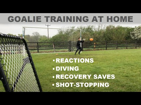 Goalkeeper Training: Improving Reactions, Diving & Recovery Saves – Young Goalie Shot-Stopping